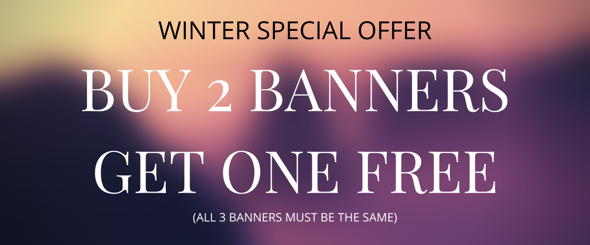DISCOUNT BANNERS WINTER OFFER